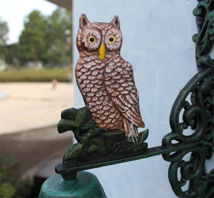 Welcome To The Listed Numbers Wrought Iron Bell Green Bells Owl Antique Retro Dinner Bell Home Garden Wall Door Decor Free Ship