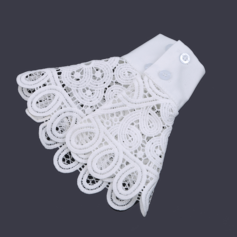 2019 Korean Thick Lace Openwork Gloves Fake Sleeves Fashion Women's Knitted Sweater Fake Sleeves New Wild Sweet Ladies Fake Cuff