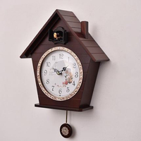 Cute Wood Creative Wall Clock Living Room Silent Designer Wall Clocks Cuckoo Reloj Cucu Time Wanduhr Decorative Supplies 50A0983