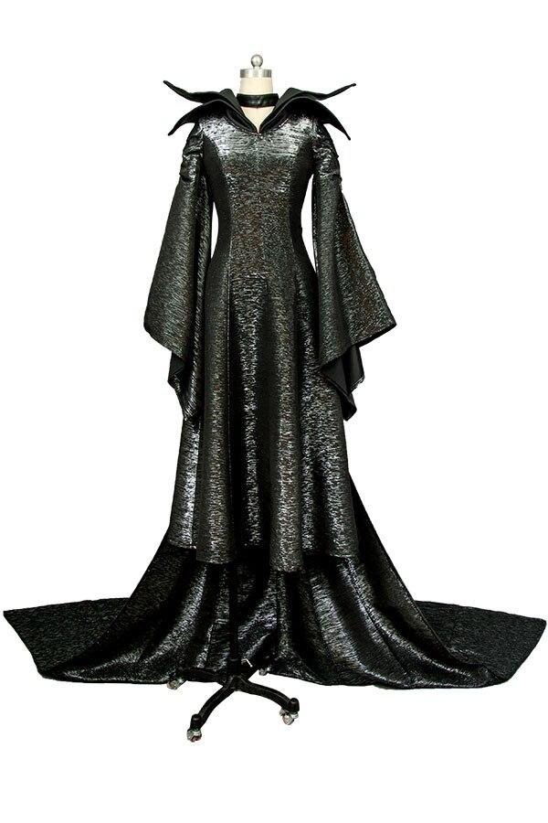 Us 100 68 15 Off Maleficent Costume Angelina Jolie Cosplay Uniform Black Long Dress Costume Halloween Carnival Women Full Set In Movie Tv Costumes