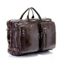 Highest quality cowhide multifunctional business laptop bag man double shoulder Messenger travel large capacity notebook bag