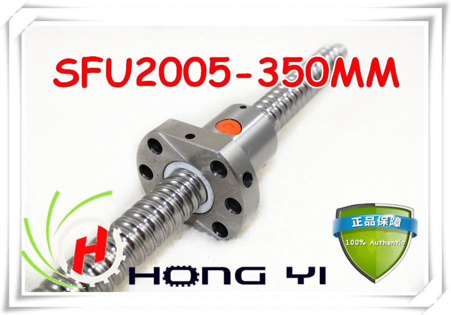 Free Shipping SFU2005 350mm RM2005 350mm Rolled Ball screw 1pcs+1pcs ballnut + end machining for BK/BF15 standard processing free shipping sfu1605 350mm rm1605 350mm c7 rolled ball screw 1pcs 1pcs ballnut cnc parts