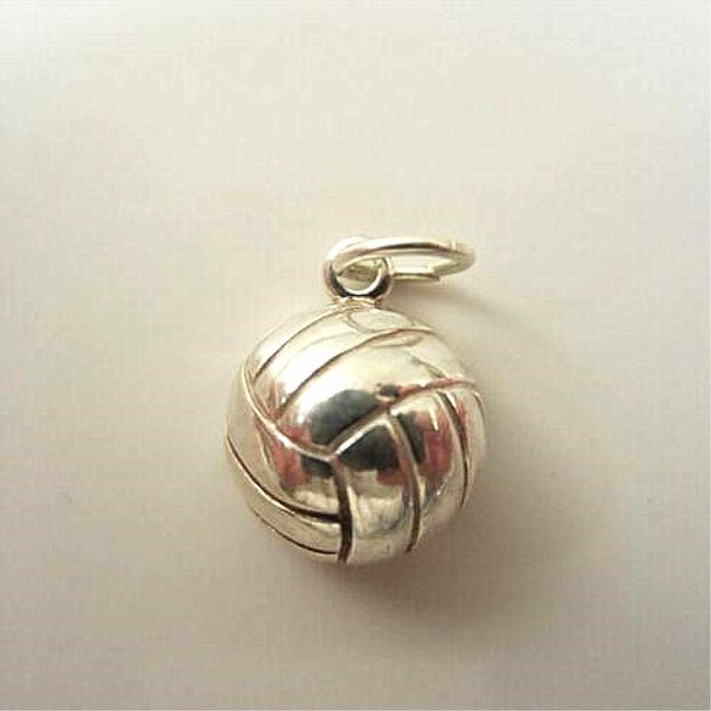Accesorio de la joyería de la bola del voleibol del deporte 3D de la aleación del Metal de la nariz doble para hacer el collar de la pulsera diy