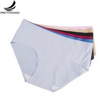 89022 Wowgo Garment Wholesale Seamless Underwear 2016 New Arrival Women 6 Color Briefs Panties M L XL XXL