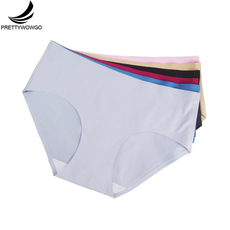 Prettywowgo Wholesale Seamless Underwear 2019 New Arrival Women 6 Color Briefs Seamless   Panties   M L XL XXL 3XL 4XL 9022