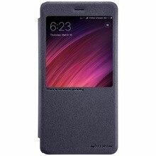 Xiaomi Redmi Note 4 Глобальный Версия чехол оригинальный NILLKIN PU блеск кожаный чехол для телефона откидная крышка для Xiaomi Redmi Примечание 4X