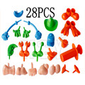 HEY play doh 28 pieces of clay mold tools set fun eccentric accessories children's puzzle rubber mud tools  playdough