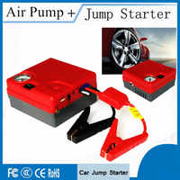 High Power 12V Car Jump Starter Air Pump 16800mAh Portable Starting Device Power Bank 400A Peak Car Battery Booster Charger LED