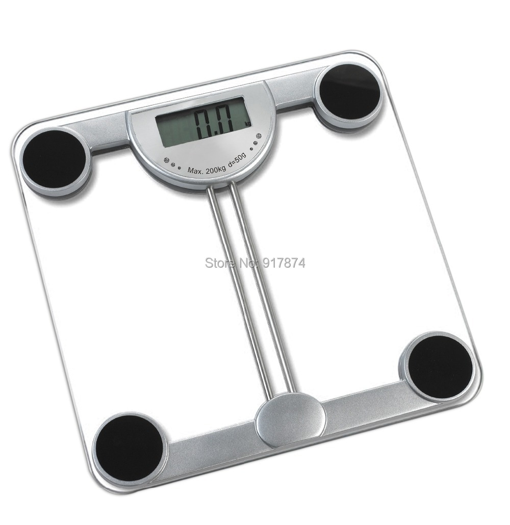 2014 promotion top fashion solid four-point type clear bathroom square scales digital personal toughened glass weight measuring