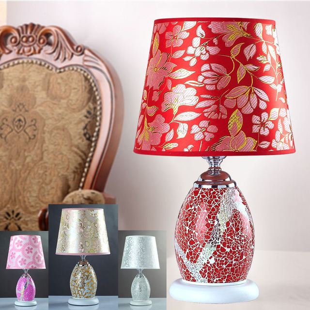 AC90 260V Wedding marriage room desk lamp red table lamp living room ...