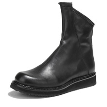 Mens Boots Autumn And Winter Round Scallop Thick Bottom Высокие сапоги Leather  casual Martin boots