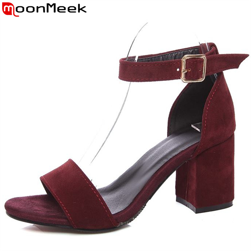ФОТО 4 colors fashion sandals new high heels high quality summer women sandals ankle wrap ladies office lady shoes