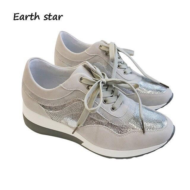 Zapatos de mujer Yılan Doku Ayakkabı Kadın Moda Markası Artırmak Ayakkabı Çapraz bağlı Bayan chaussure Sonbahar Yeni Kadın ayakkabı