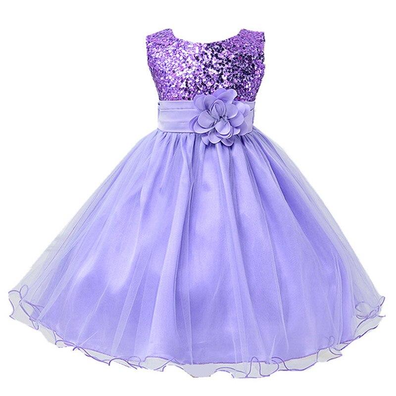 Детское платье с блестками, на Возраст 3-12 лет