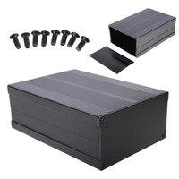 Высокое качество алюминий Box корпус схема проекта электронный черный 150*105 мм * 55 мм для плата данных питание единиц
