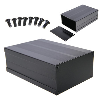 High Quality Aluminum Box Enclosure Case Circuit Board Project Electronic Black 150x105x55mm For Data Board Power Supply Units black electronic project case aluminum circuit board enclosure box 150x105x55mm with screws