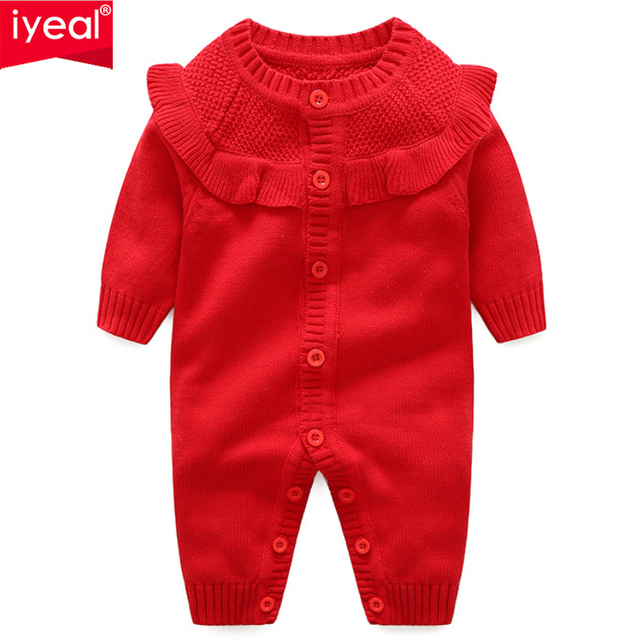 90816d3e5811b US $25.83 26% OFF|IYEAL Princess Infant Romper Kids Jumpsuit Winter Newborn  Baby Girls Warm Overalls Knitted Sweater Children's Clothes Outwear-in ...