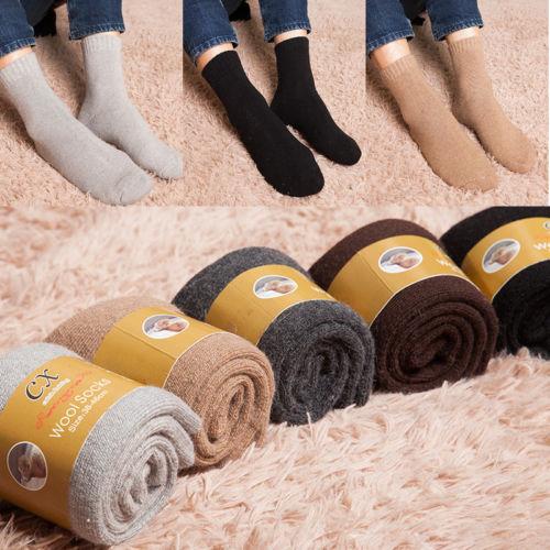 2017 New Winter Mens Long Thick Wool Thermal Boot Socks Walking Ski Winter Warm