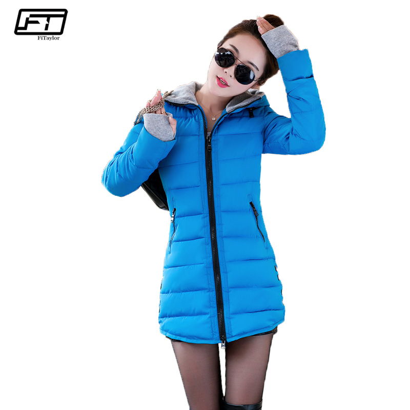 Fitaylor Winter Coat Women Jacket 2017 Ner Hooded Thicj Warm Long Cotton Padded Parkas Mujer Plus Size Casual Casaco Feminino women s cotton padded long jacket winter leisure wild long cashmere wool liner coat casual pocket zipepr parkas mujer jy 805