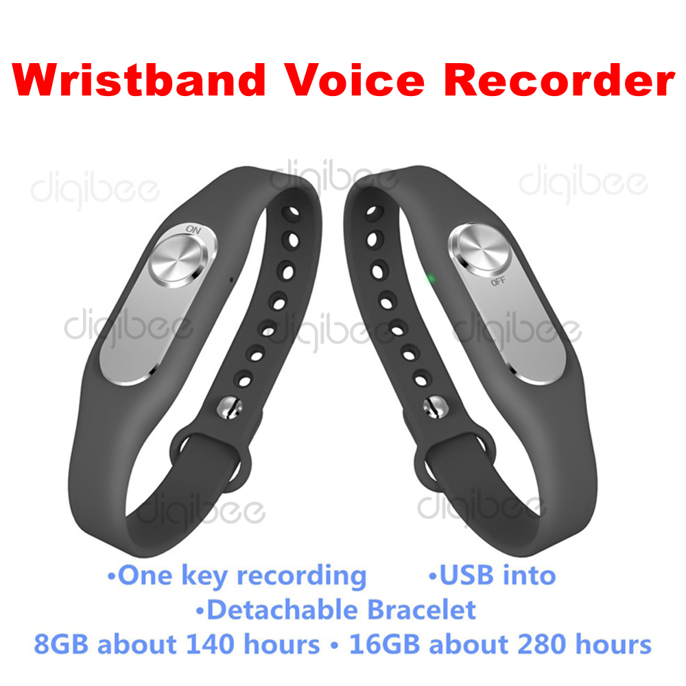 Digital Voice Recorder Mode Tragbare Mini Sport Armband Diktiergerät 4g/8g/16 Gb Tragbare Armband Digital Audio Voice Recorder One Key Recording Lange Lebensdauer
