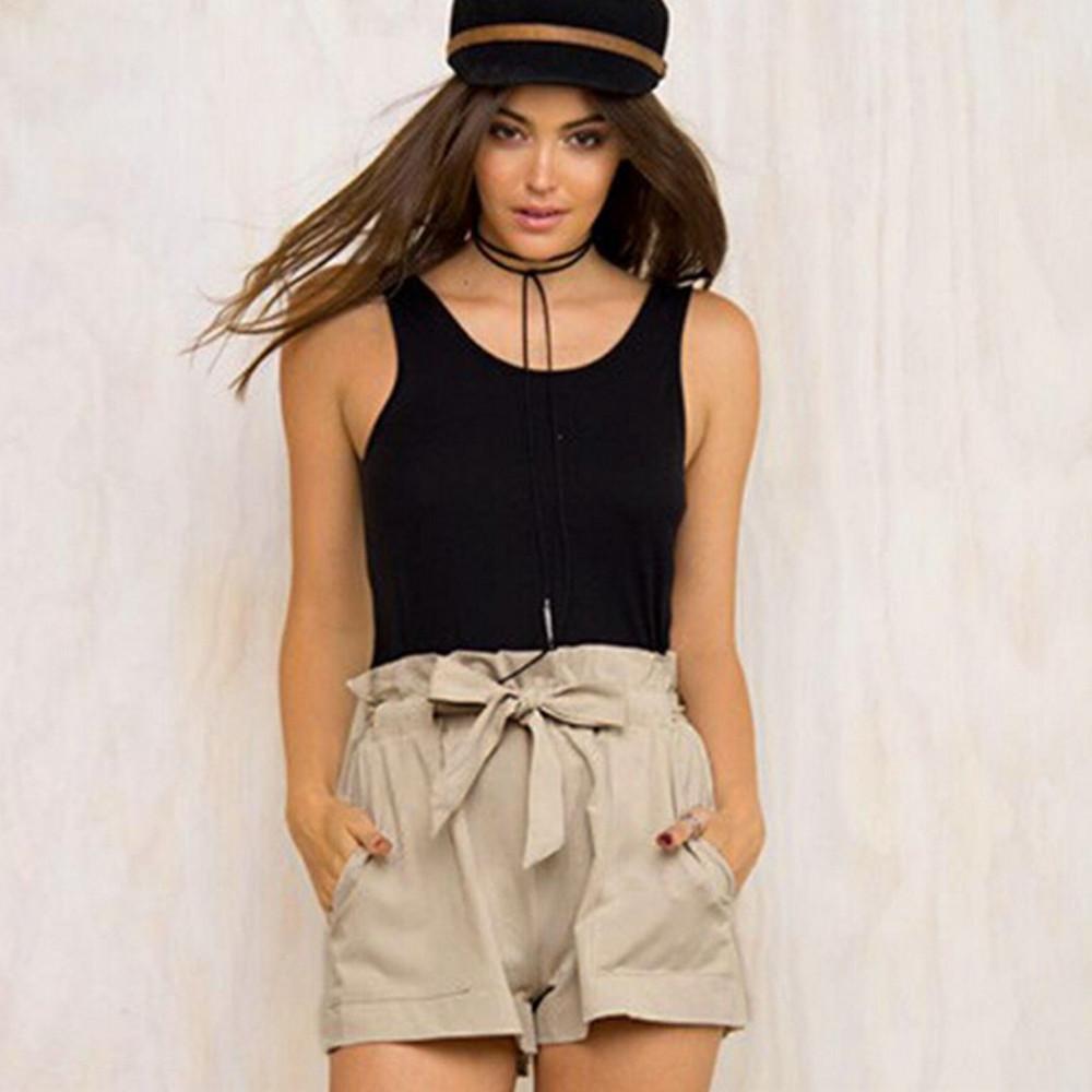 HTB1rCUpNXXXXXa1XpXXq6xXFXXXm - High Waist Shorts Loose Shorts With Belt Woman PTC 59