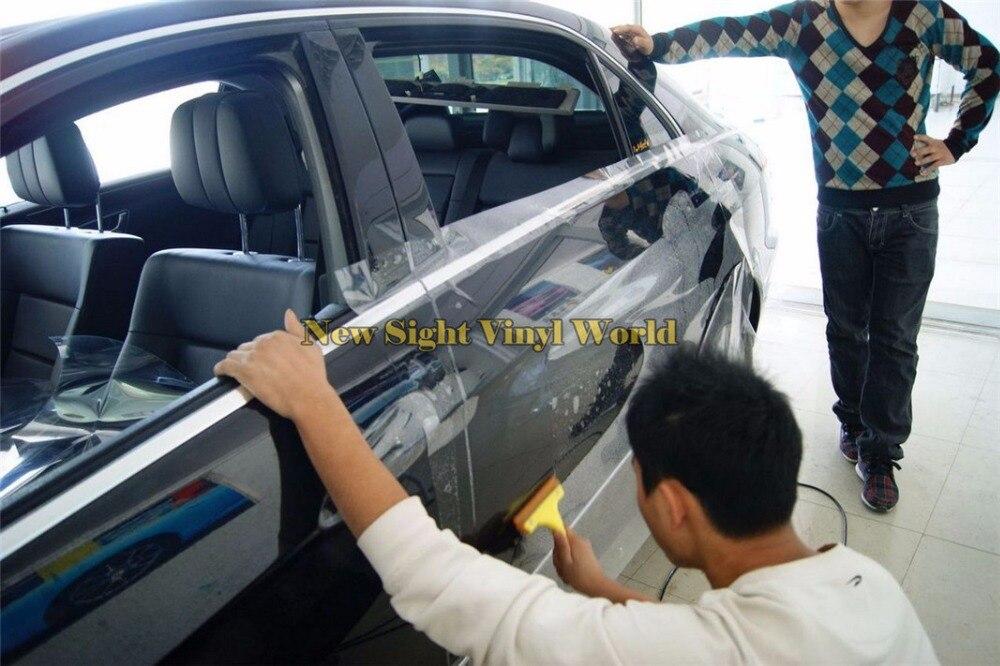 3 слоя прозрачный PPF автомобиля Плёнка для защиты при покраске наклейки для автомобиля Краски Размеры: 1.52*15 м/roll