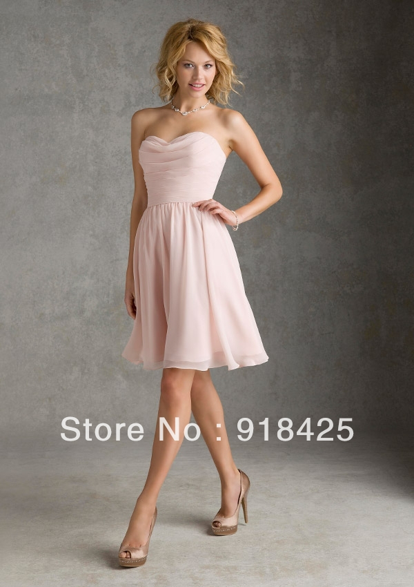blush bridesmaid dresses short page 1 - evening