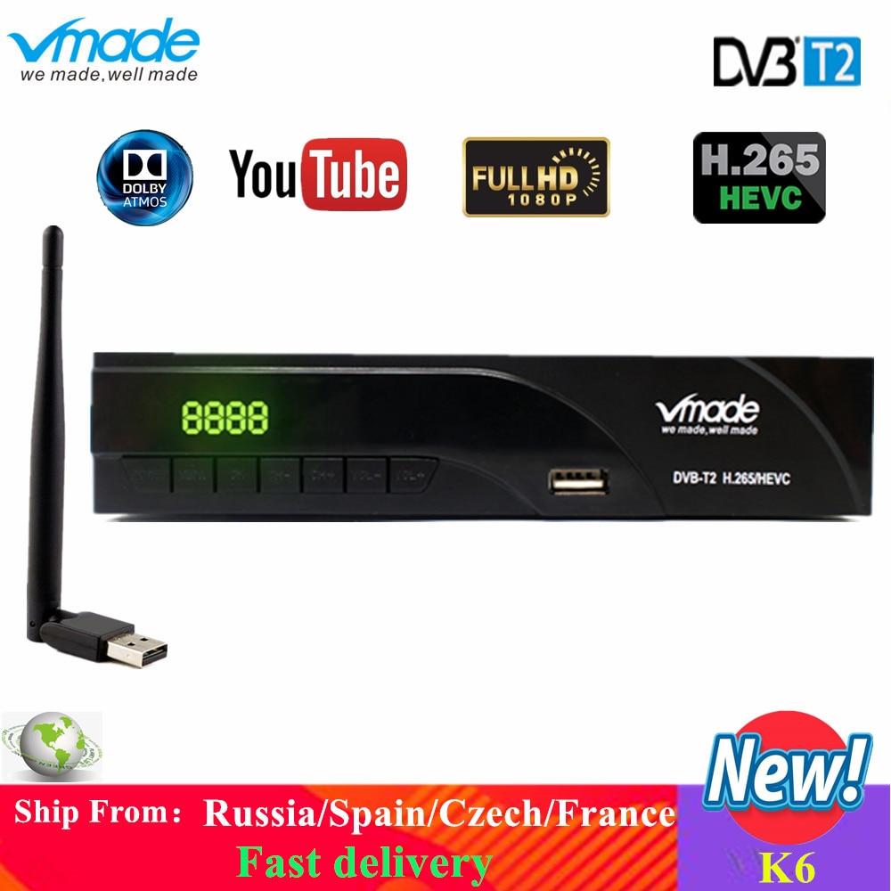 Mais novo DVB-T2 digital FTA receptor suporta H.265/HEVC h265 hevc DVB-T dvb t2 venda quente Europa Rússia República Checa alemanha