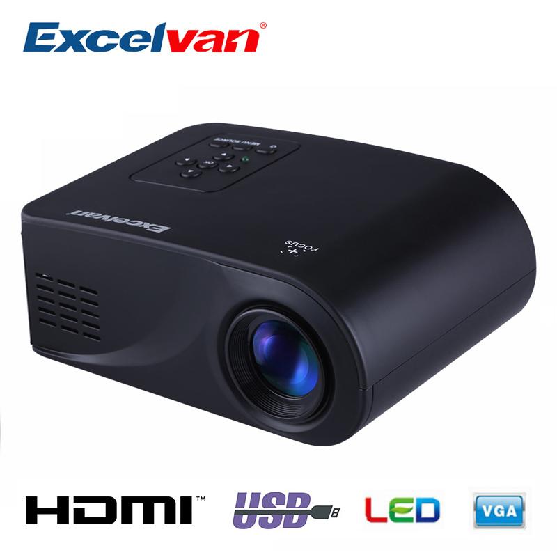 Prix pour Excelvan RD802 Portable Mini Projecteur Home Cinéma LED et LCD Proyector 480*320 Avec HDMI/USB/SD/VGA/AV/Sortie Audio D'entrée