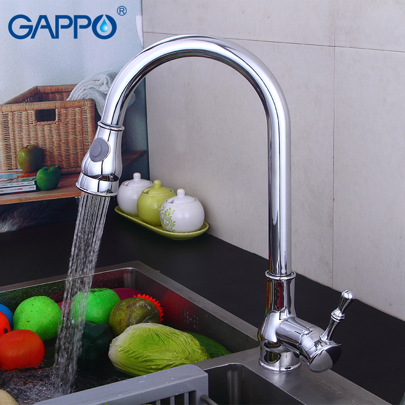 Gappo Kitchen Faucets Pull Out Mixer Kitchen Drinking Water Faucet Water Sink Mixer Tap Deck Mounted Armatur