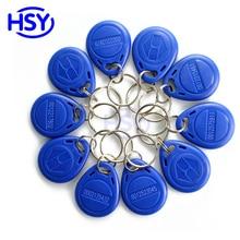 125Khz Access Control EM ID Key tag RFID Proximity Keytags TK4100 Keyfob Optional Rewritable T5577 Chip Smart Keychain