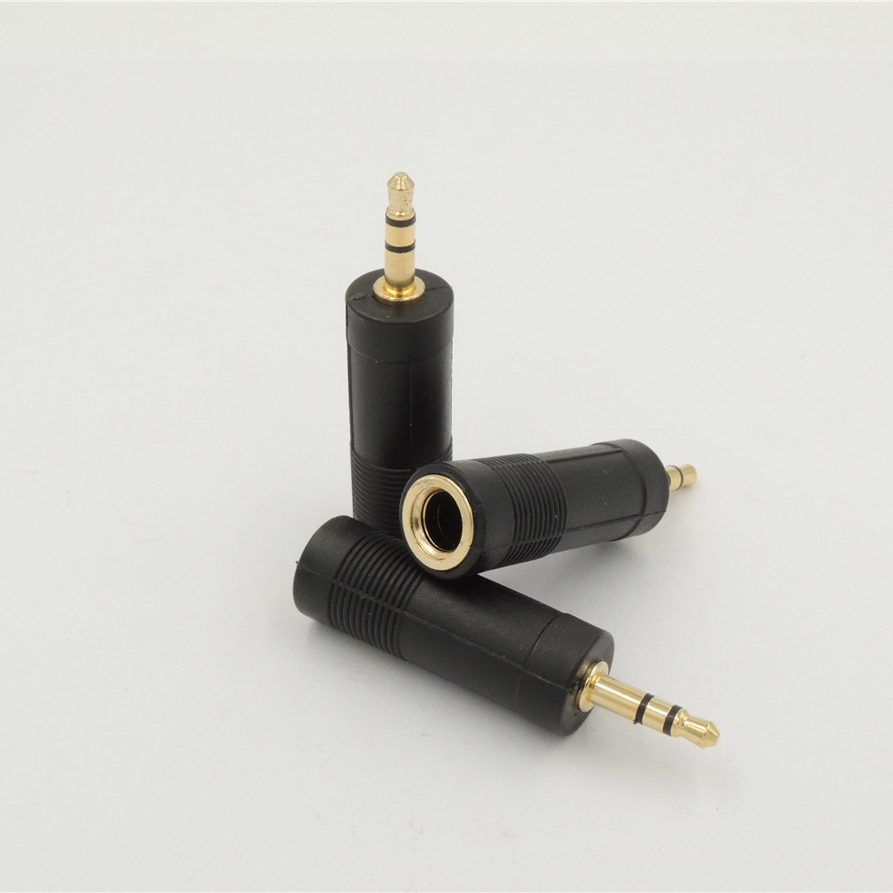 "3.5mm 1//8/"" Mono Male Plug to 1//4/"" 6.35mm Female Jack Audio Converter Adapter"