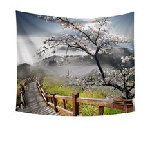 Gajjar Home decor Tapestry 3D Four seasons scenery pattern Wall Art Hippie Wall Hanging Boho Bedspread tapestries Beach towel 18(China)