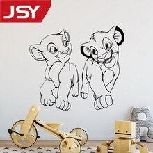 Jiangs Yu 1 PC Cartoon Lion King Nala And Simba Wall Sticker Home Decor Nursery Kids Room Vinyl Art