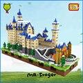 Mr. froger loz nieve white castle schloss neuschwanstein nueva cisne castillo de piedra diamante casa de bloque bloques de construcción creador de píxeles