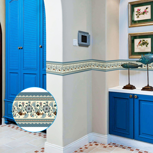 Image 4 - Papel tapiz 3D de 10M, borde de PVC, línea de rodapié autoadhesiva, pegatina impermeable, azulejo moderno extraíble, pegatina de pared para cocina y baño