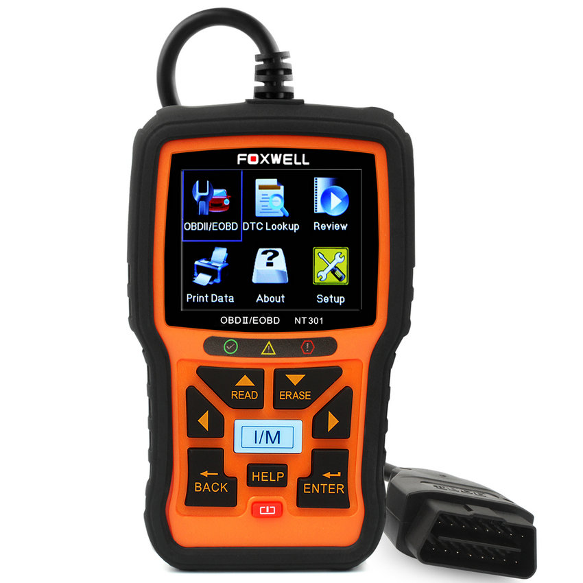 obd2 automotive scanner in portuguese foxwell nt301 obd obd2 car diagnostic tool auto fault code. Black Bedroom Furniture Sets. Home Design Ideas