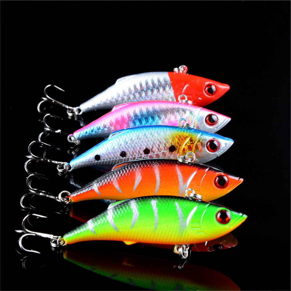 5pcs lot winter fishing lures hard bait VIB with lead inside lead fish ice sea fishing tackle swivel jig wobbler lure 7cm/10g wldslure 1pc 54g minnow sea fishing crankbait bass hard bait tuna lures wobbler trolling lure treble hook