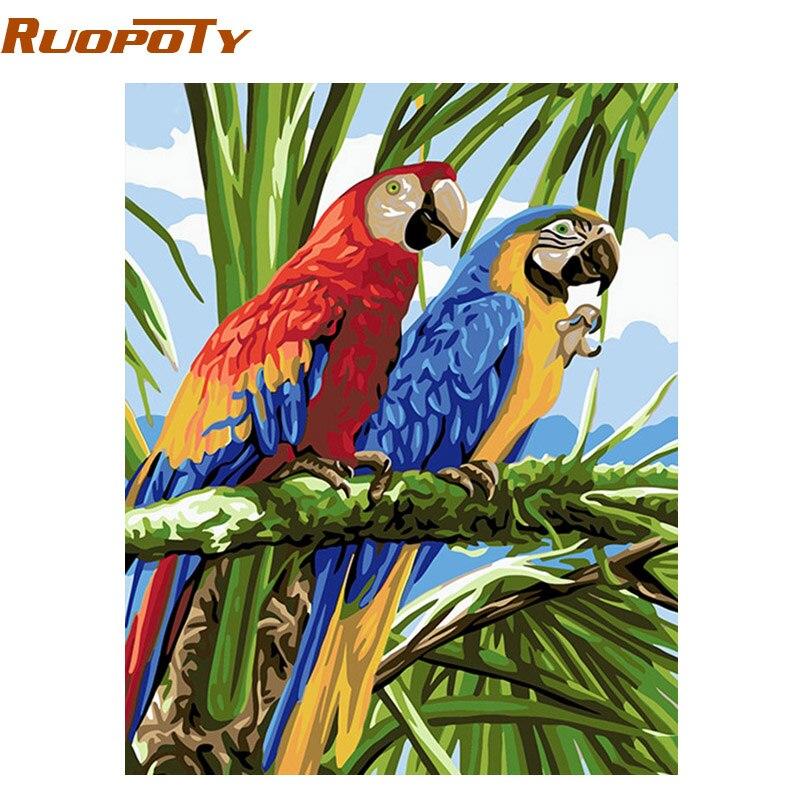 RUOPOTY Rahmen Vögel DIY Malen Nach Zahlen Wohnkultur Wand malerei ...