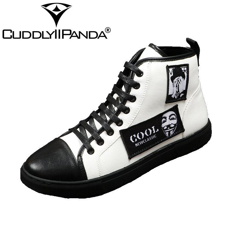CUDDLYIIPANDA Hommes de luxe Designer V pour Vendetta charme Casual Chaussures Hommes Robe De Bal De Noce De Bal Sapato Sociale