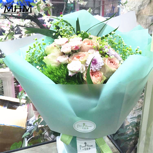 10pcs Hot Sale Fashion Clear Mist Bouquets Flowers Packaging ...