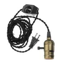 Edison Retro Vintage E27 E26 Lamp Base Dimmer Switch Pendant Lamp Holder Hanging Ceiling Light Bulb