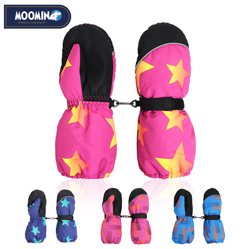 Moomin 2016 New Arrival Winter Waterproof Gloves Polyester warm gloves boys outdoor winter gloves snow moomin 2016 new arrival winter waterproof romper 100