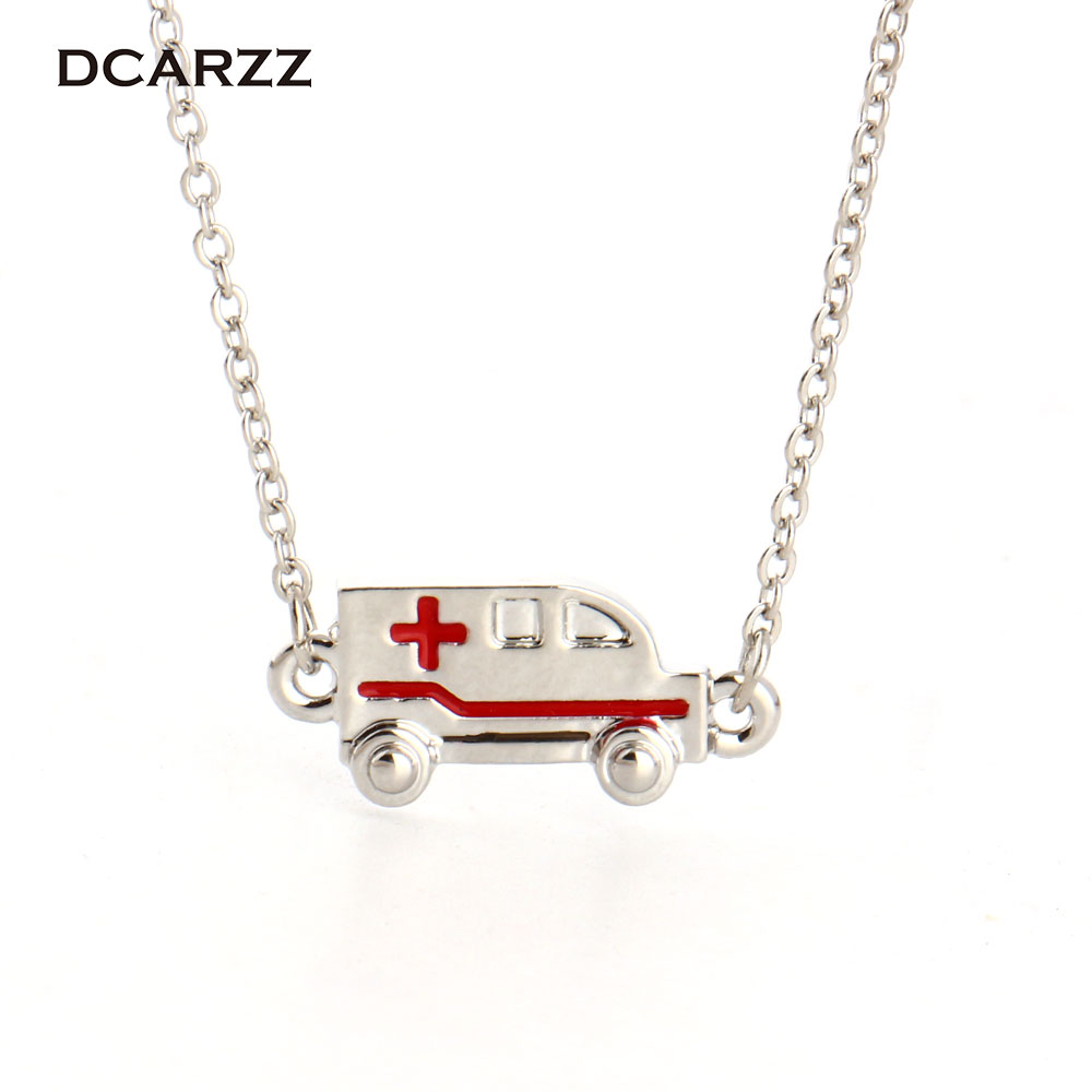 Mini Ambulance Pendant Necklace ER Gift/Medical Gift for Doctor/Nurse/Graduation Student/Therapist/Physician Medical jewelry