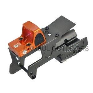 ALG Verteidigung 6-Zweite Montieren Optics Scope Mount T1 T2 H1RMR Für Pistole Gen3 WIR Marui KWA Glock 17 18C 22 24 31 34 35 Mit Magwell