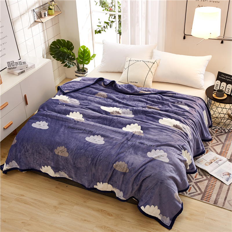 Free shipping Ferret cashmere blanket warm blankets on the bed coquelicot