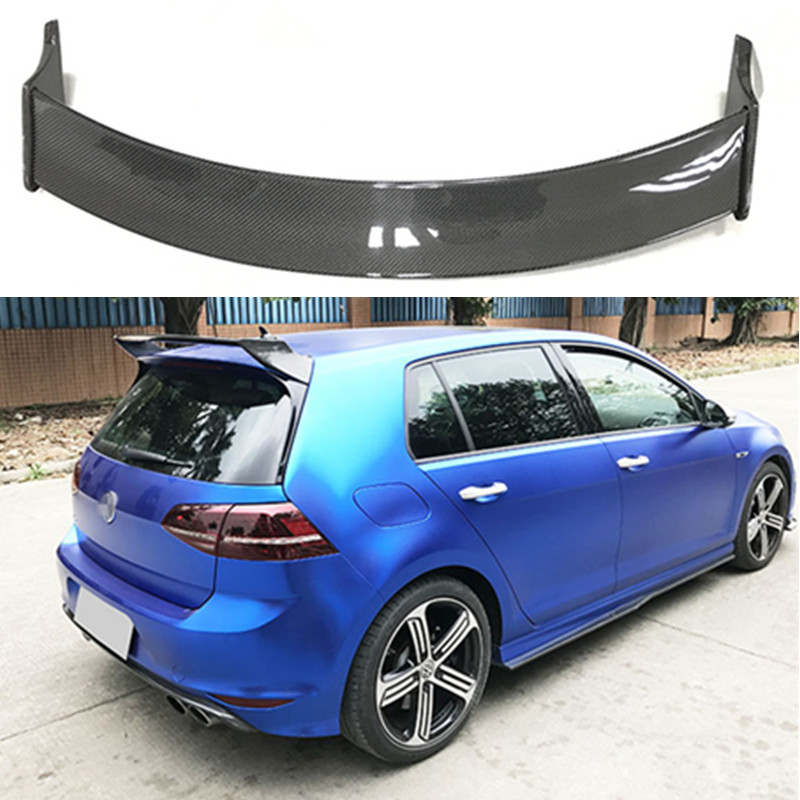 Aspec Style Car Styling Carbon Fiber Rear Trunk Roof Wing Lip Spoiler Fit For Volkswagen VW Golf VII 7 MK car styling carbon fiber auto rear wing spoiler lip for vw scirocco 2010 2012