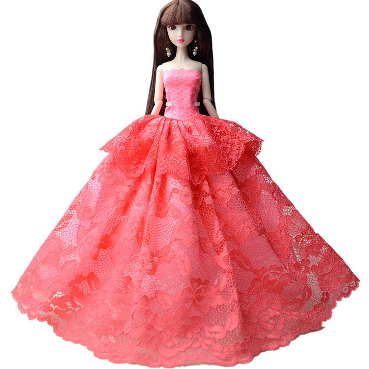 NK One Pcs 2018 Princess Wedding Dress Noble Party Gown For Barbie Doll Fashion Design Outfit Best Gift For Girl Doll 011C