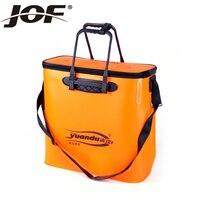 1pcs 48 cm * 20 cm * 48 cm Orange double folded water tank for live fish barrel,utensil storage box fishing tackle