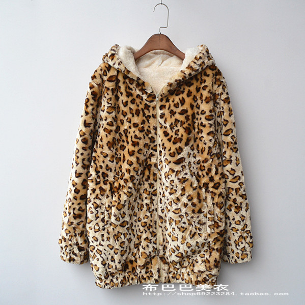 a6d0568ef37d7 Detail Feedback Questions about Winter fashion women coat lamb cotton  jacket leopard hooded outwear thicken warm women coats on Aliexpress.com